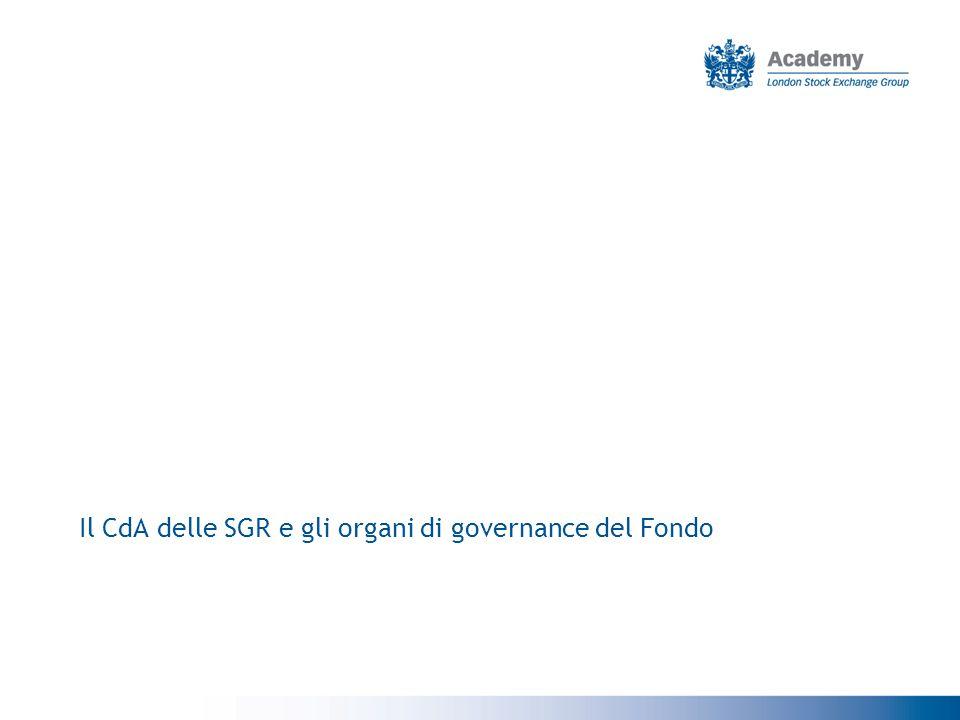 Il CdA delle SGR e gli organi di governance del Fondo