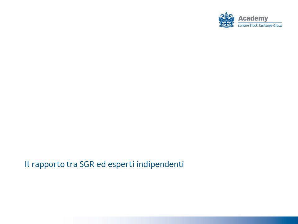 Il rapporto tra SGR ed esperti indipendenti