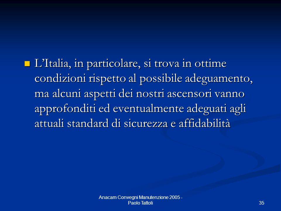 Anacam Convegni Manutenzione 2005 - Paolo Tattoli
