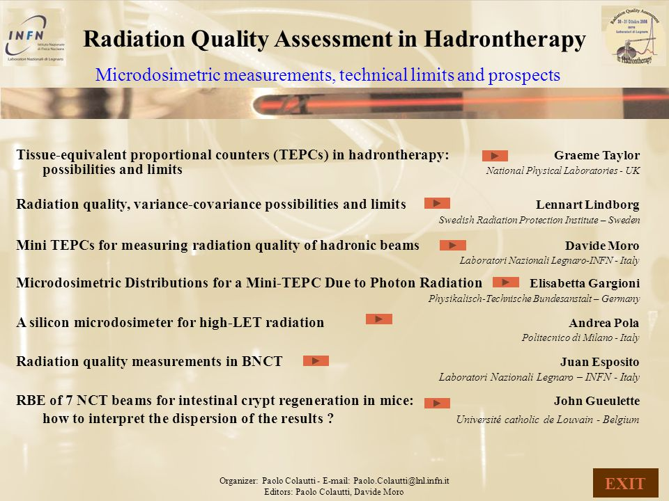 Radiation Quality Assessment in Hadrontherapy