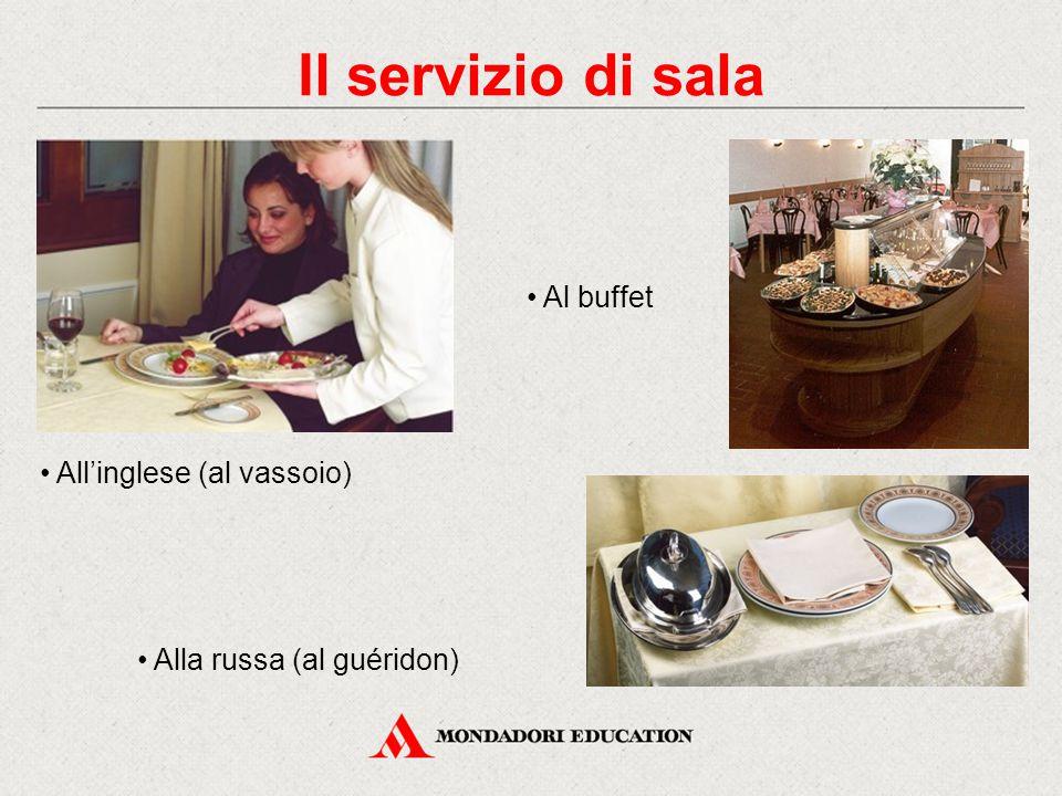 Il servizio di sala • Al buffet • All'inglese (al vassoio)