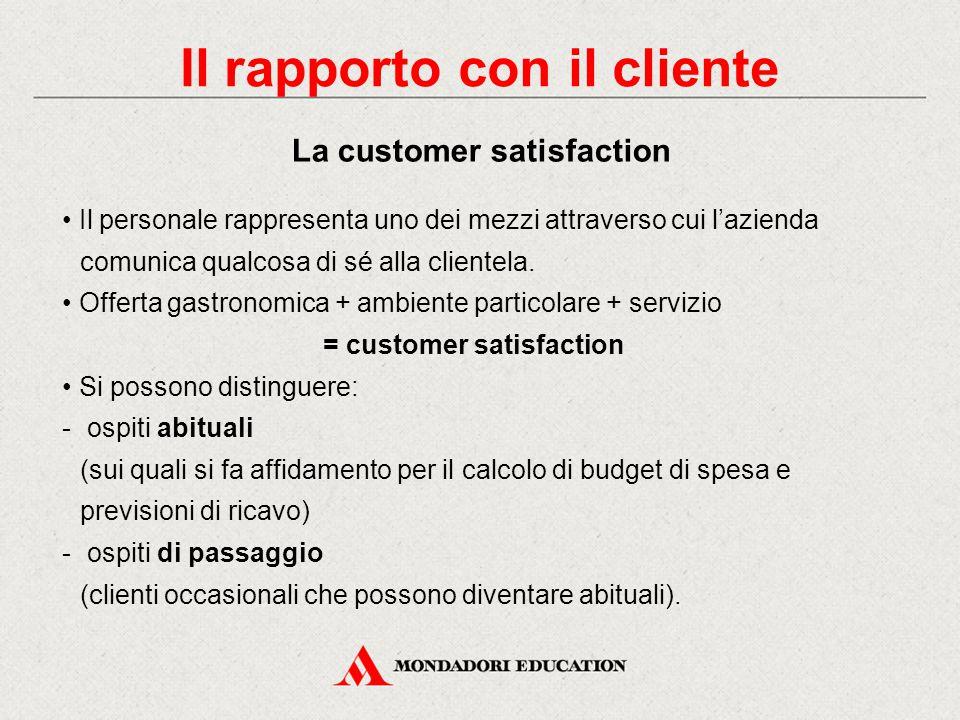 Il rapporto con il cliente