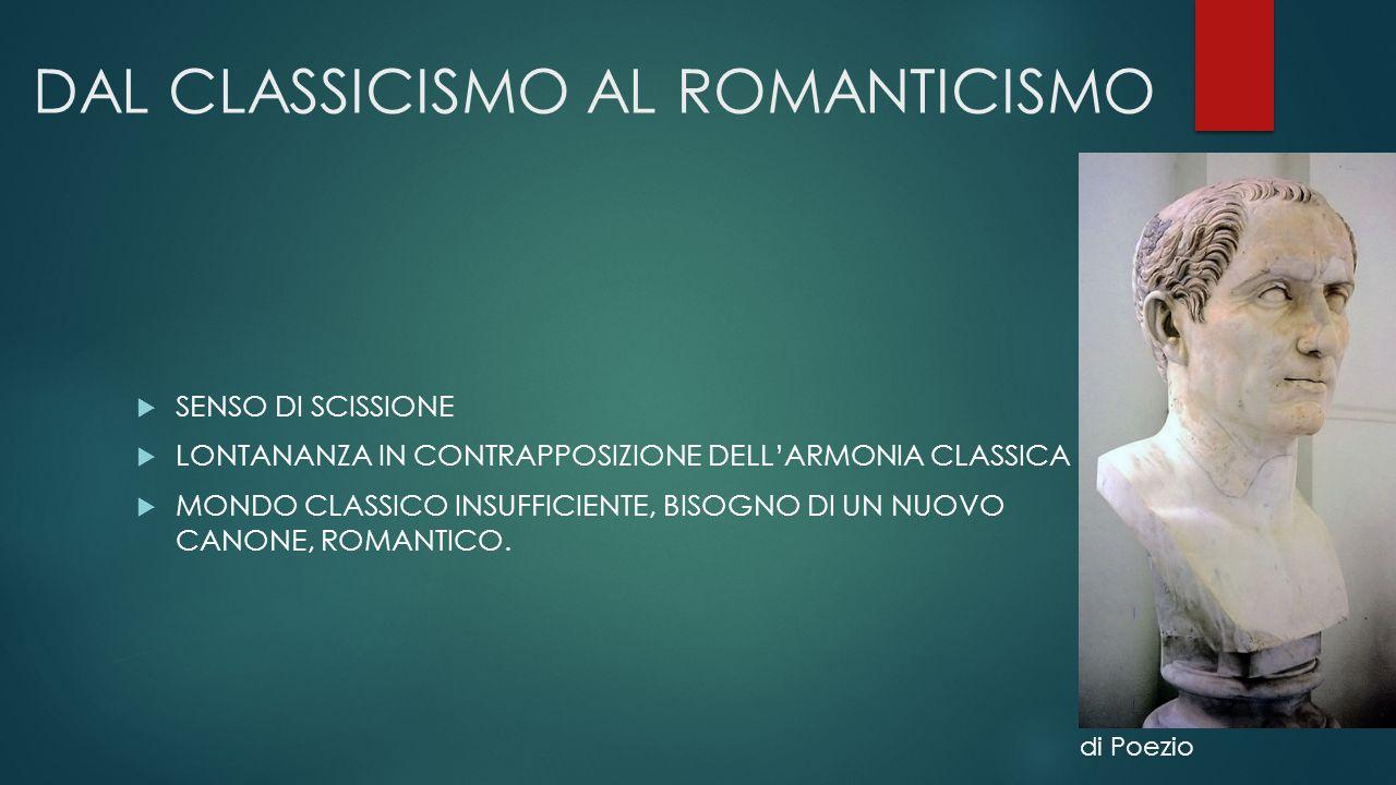 DAL CLASSICISMO AL ROMANTICISMO
