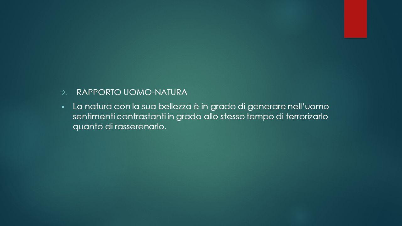 RAPPORTO UOMO-NATURA