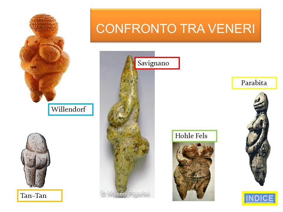 CONFRONTO TRA VENERI INDICE Savignano Parabita Willendorf Hohle Fels