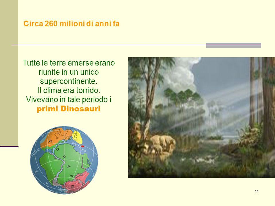 Circa 260 milioni di anni fa
