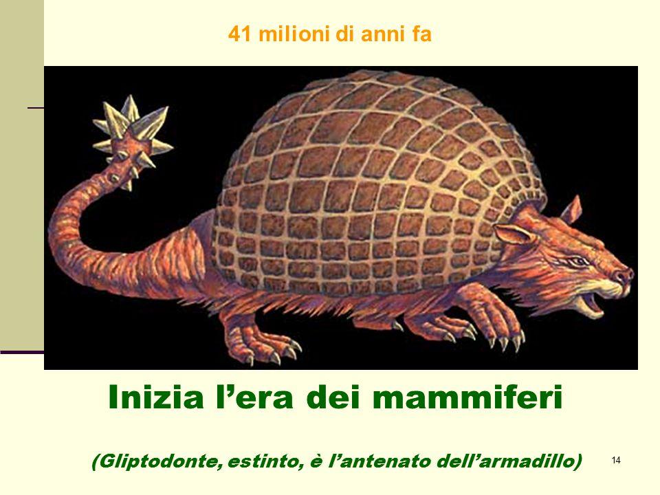 Inizia l'era dei mammiferi