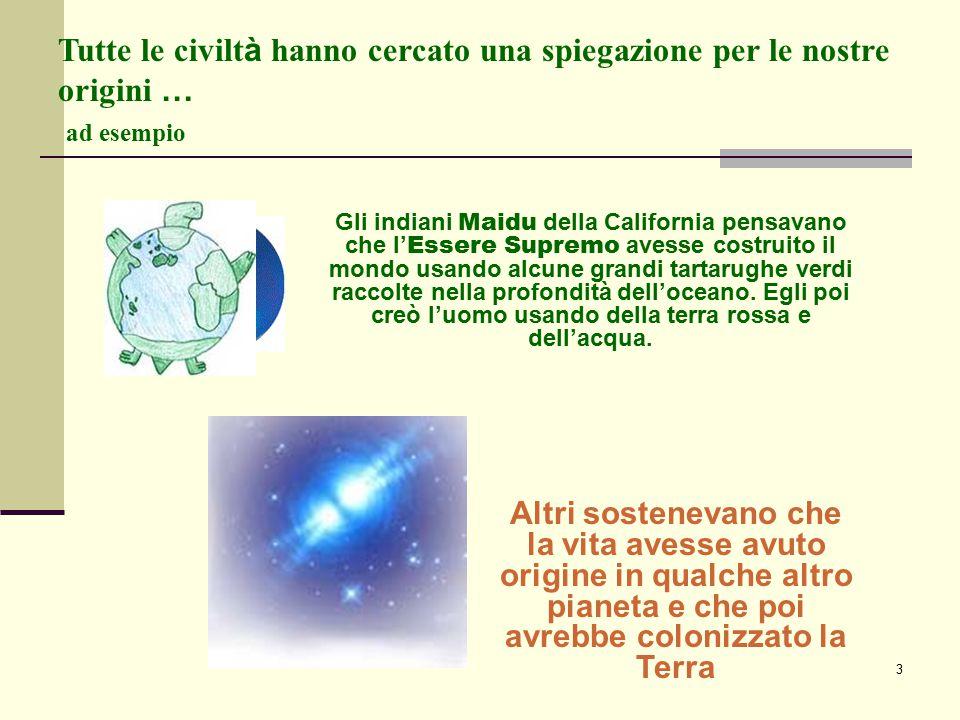Tutte le civiltà hanno cercato una spiegazione per le nostre origini … ad esempio