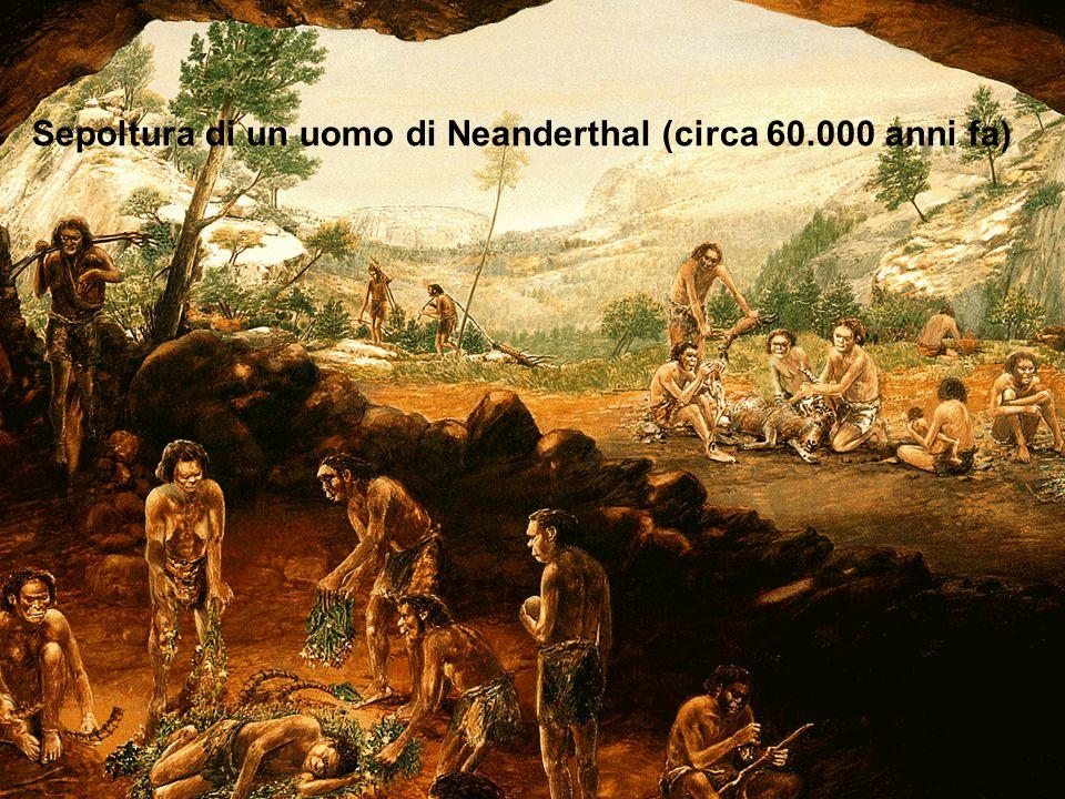 Sepoltura di un uomo di Neanderthal (circa 60.000 anni fa)