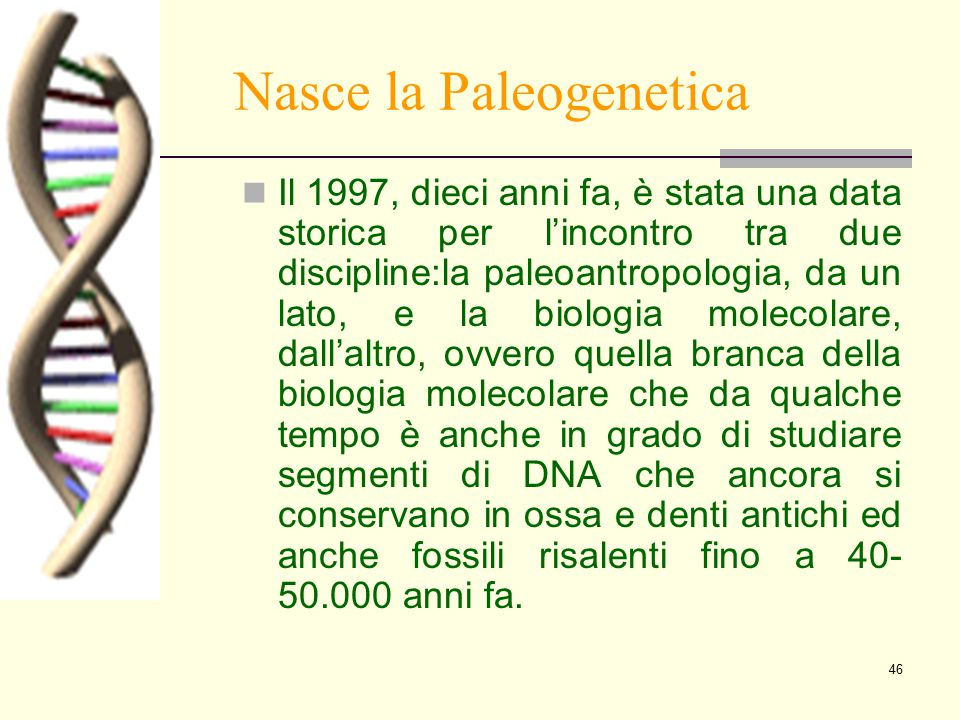 Nasce la Paleogenetica