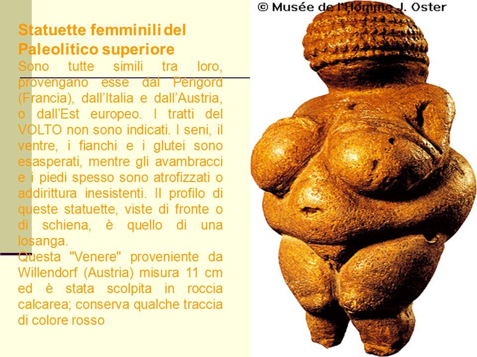 Statuette femminili del Paleolitico superiore