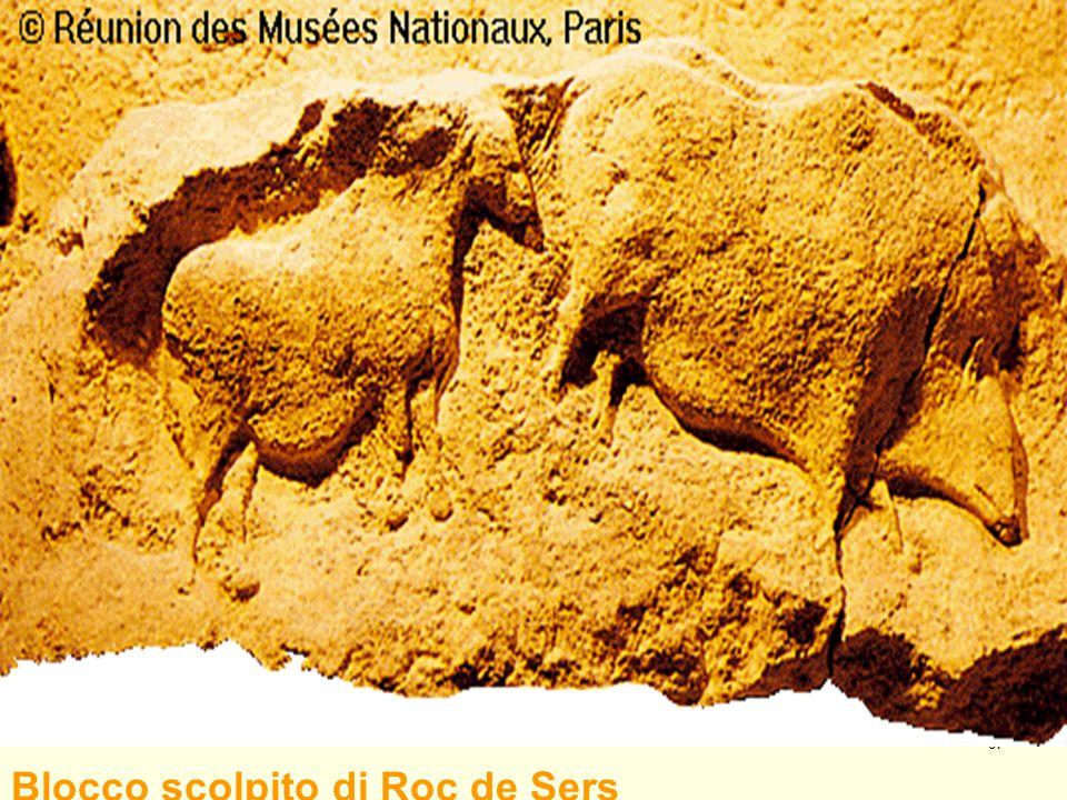 Blocco scolpito di Roc de Sers