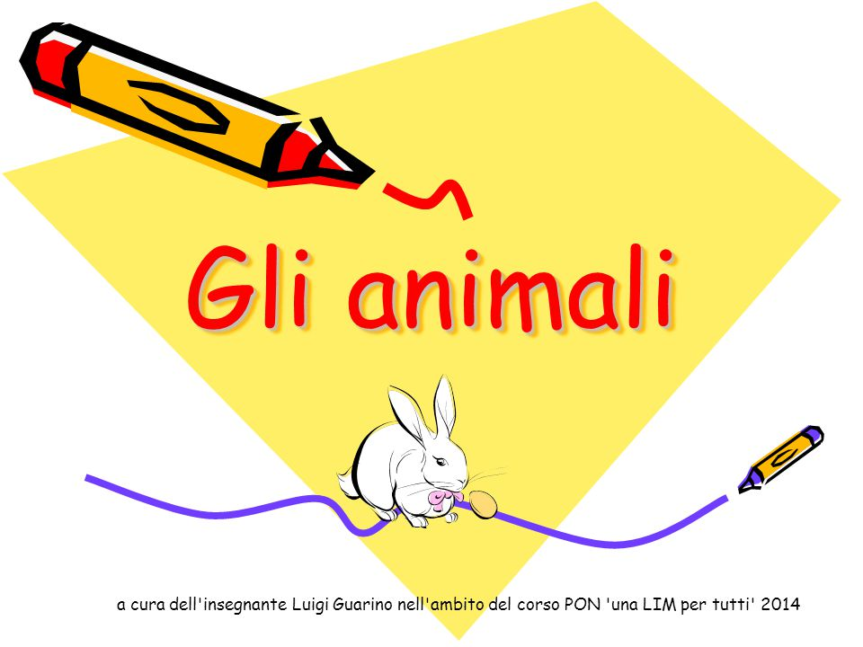 Gli animali a cura dell insegnante Luigi Guarino nell ambito del corso PON una LIM per tutti 2014