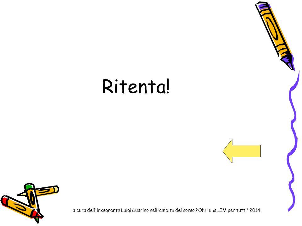 Ritenta! a cura dell insegnante Luigi Guarino nell ambito del corso PON una LIM per tutti 2014