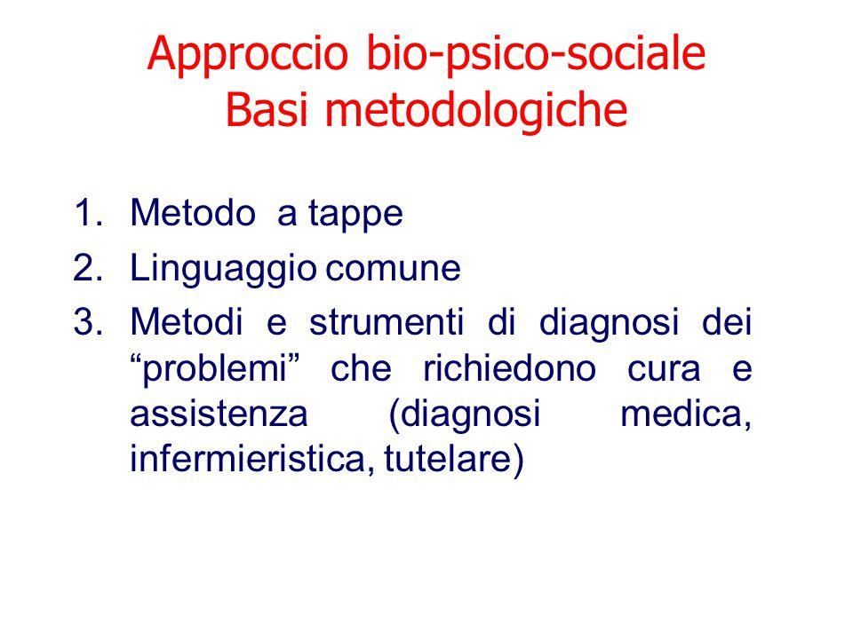 Approccio bio-psico-sociale Basi metodologiche