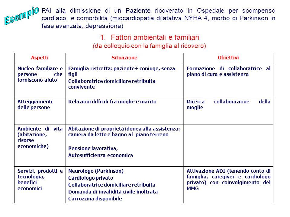 Fattori ambientali e familiari