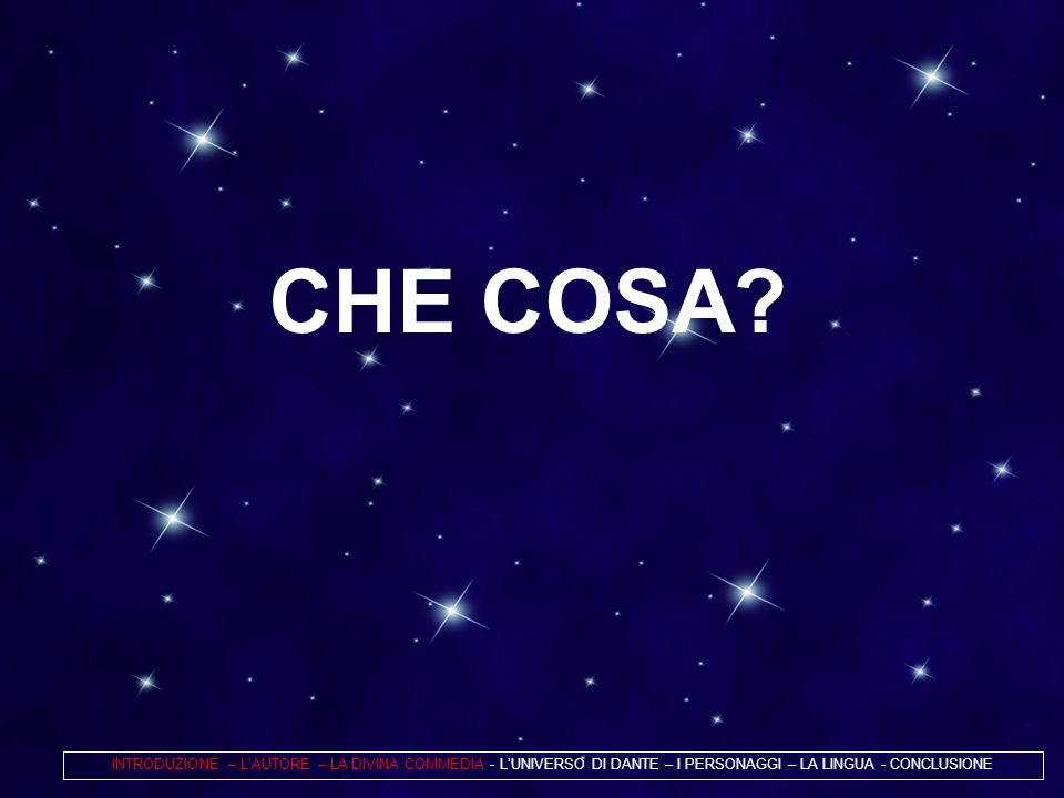 CHE COSA.