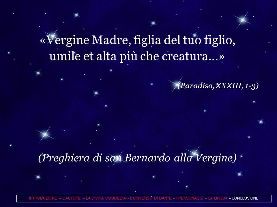 «Vergine Madre, figlia del tuo figlio,