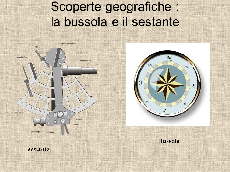Scoperte geografiche : la bussola e il sestante