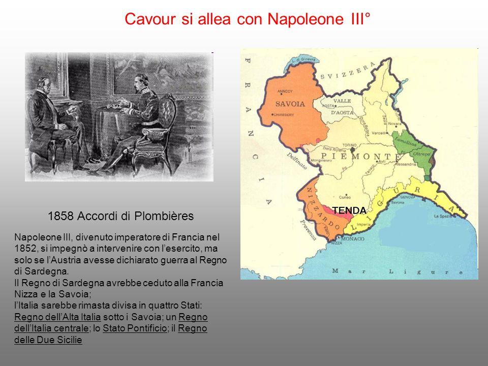 Cavour si allea con Napoleone III°