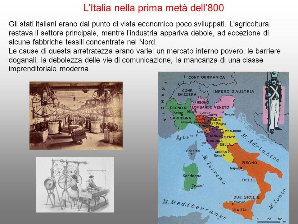 L'Italia nella prima metà dell'800