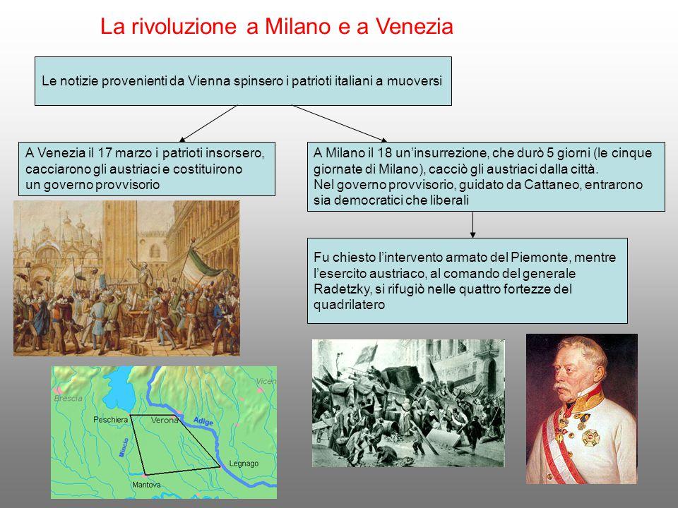 La rivoluzione a Milano e a Venezia