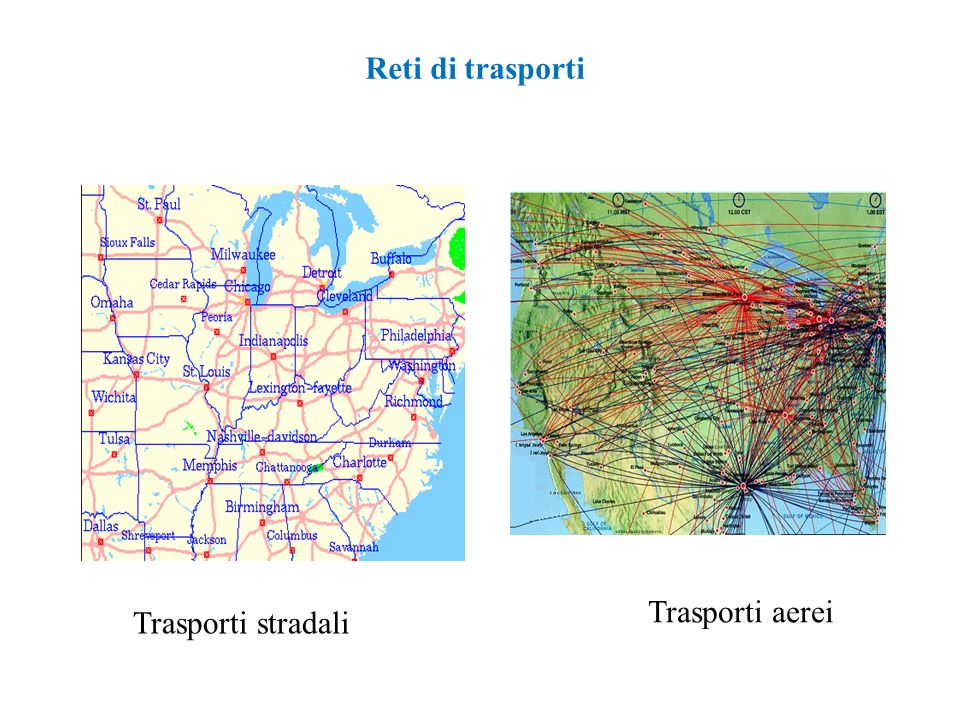 Reti di trasporti - Trasporti aerei Trasporti stradali