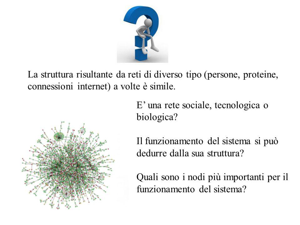 La struttura risultante da reti di diverso tipo (persone, proteine,
