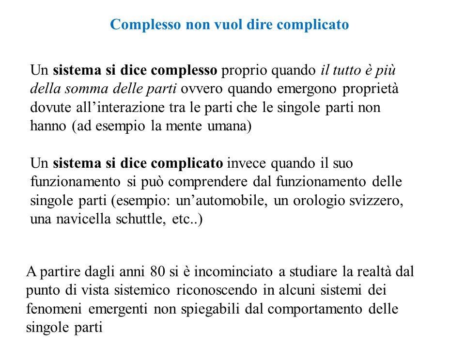 Complesso non vuol dire complicato