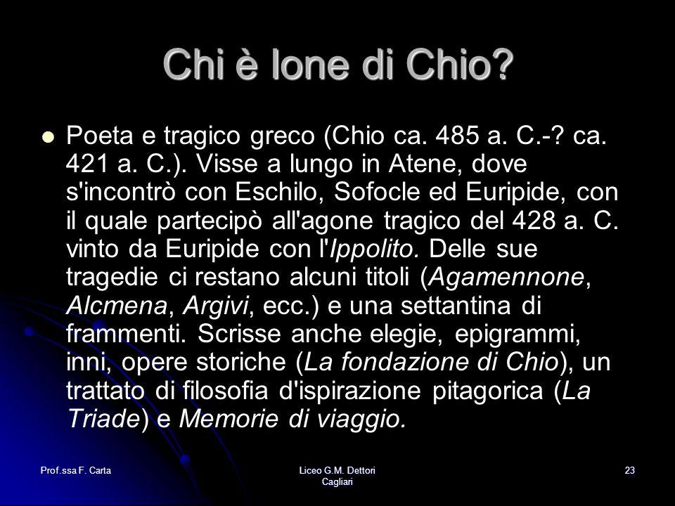 Chi è Ione di Chio
