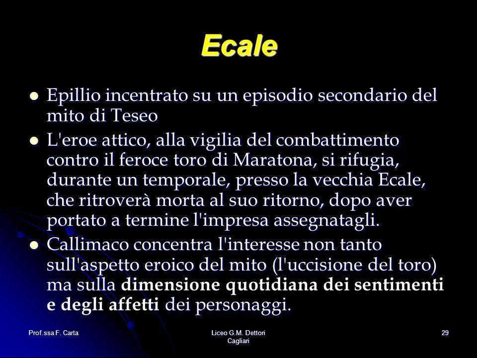 Ecale Epillio incentrato su un episodio secondario del mito di Teseo