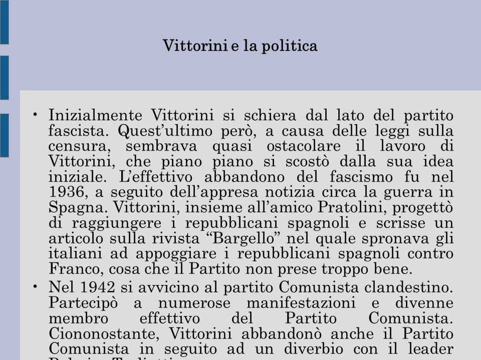 Vittorini e la politica