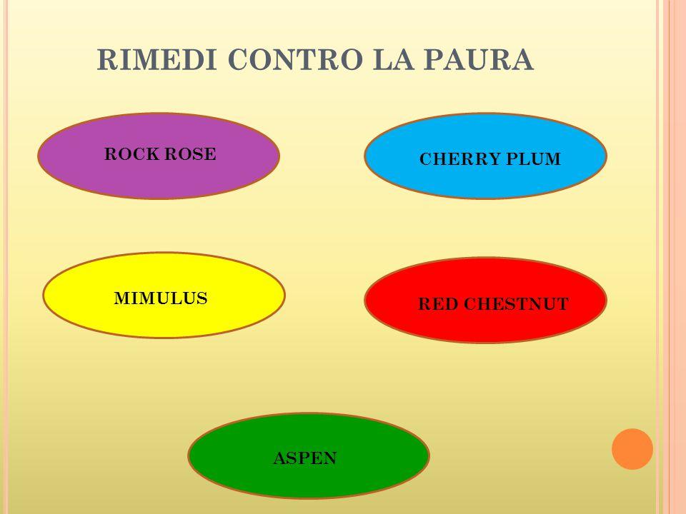 RIMEDI CONTRO LA PAURA ROCK ROSE CHERRY PLUM MIMULUS RED CHESTNUT