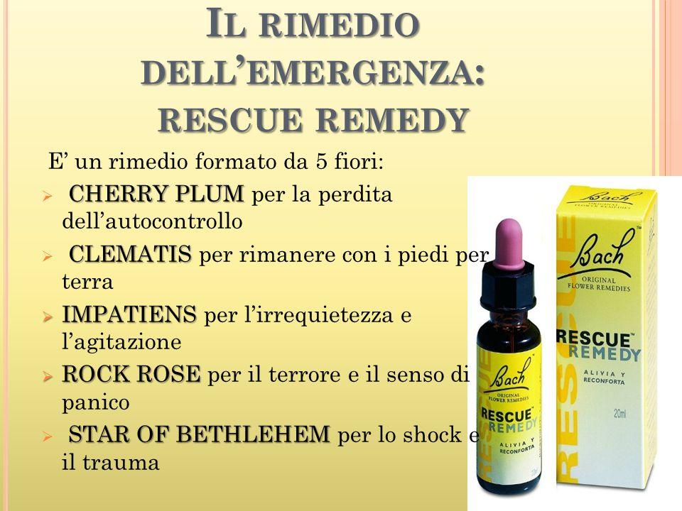 Il rimedio dell'emergenza: rescue remedy