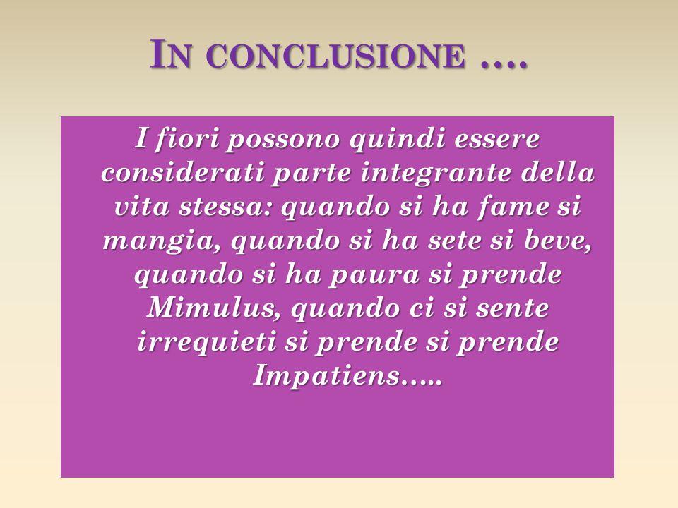In conclusione ….