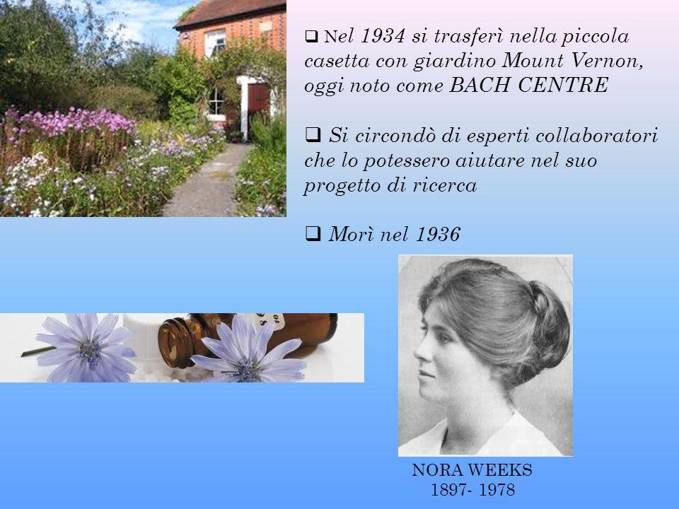 Nel 1934 si trasferì nella piccola casetta con giardino Mount Vernon, oggi noto come BACH CENTRE