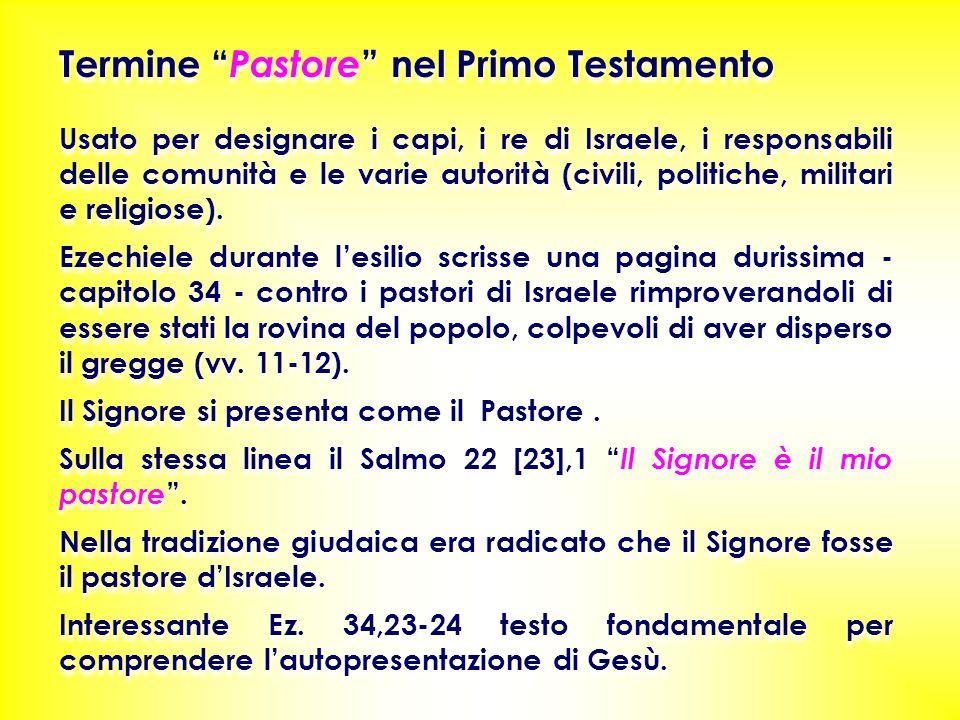 Termine Pastore nel Primo Testamento