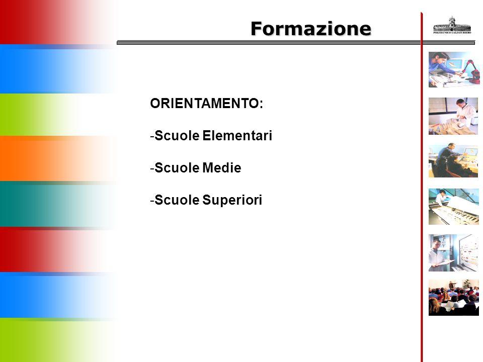 Formazione ORIENTAMENTO: Scuole Elementari Scuole Medie