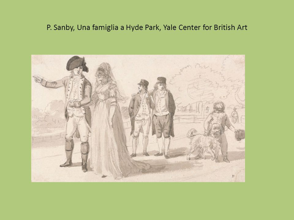 P. Sanby, Una famiglia a Hyde Park, Yale Center for British Art