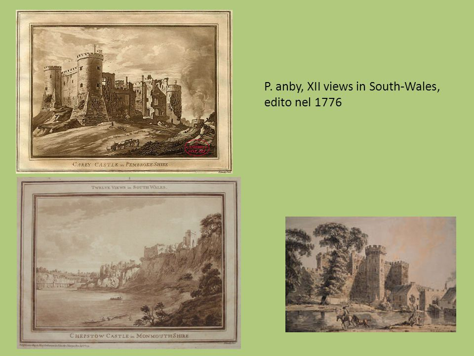 P. anby, XII views in South-Wales, edito nel 1776