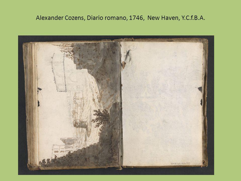 Alexander Cozens, Diario romano, 1746, New Haven, Y.C.f.B.A.