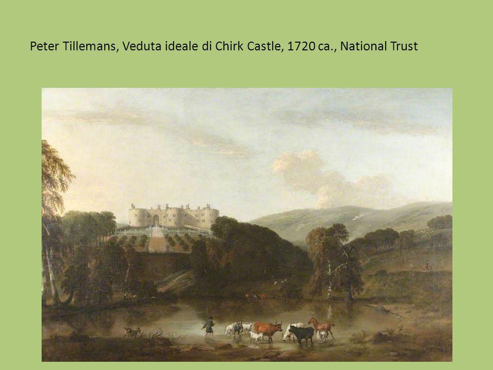 Peter Tillemans, Veduta ideale di Chirk Castle, 1720 ca