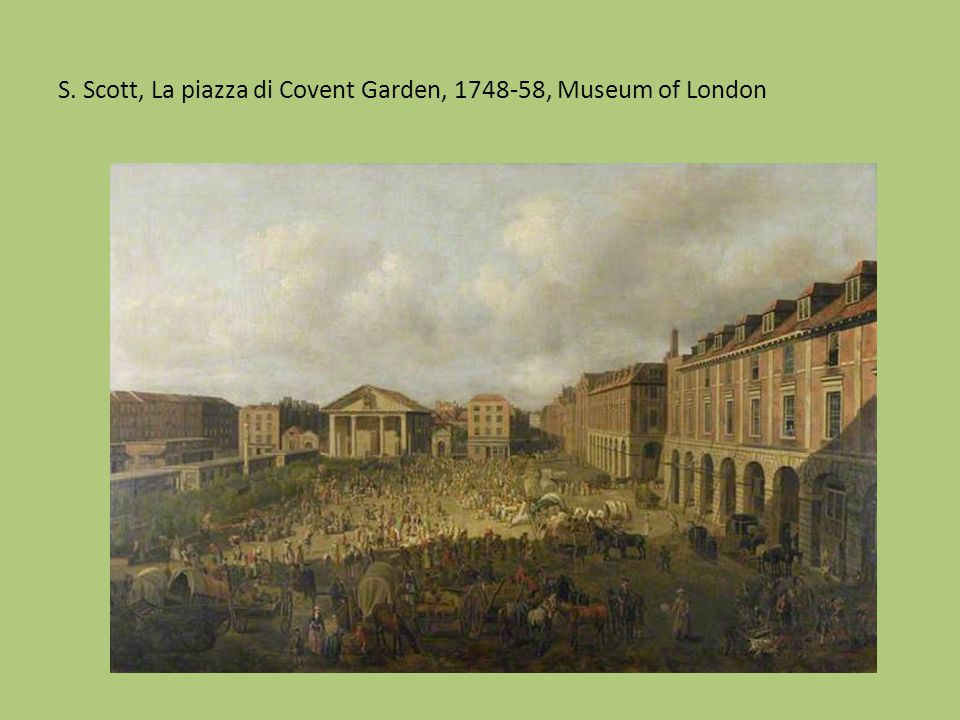S. Scott, La piazza di Covent Garden, 1748-58, Museum of London