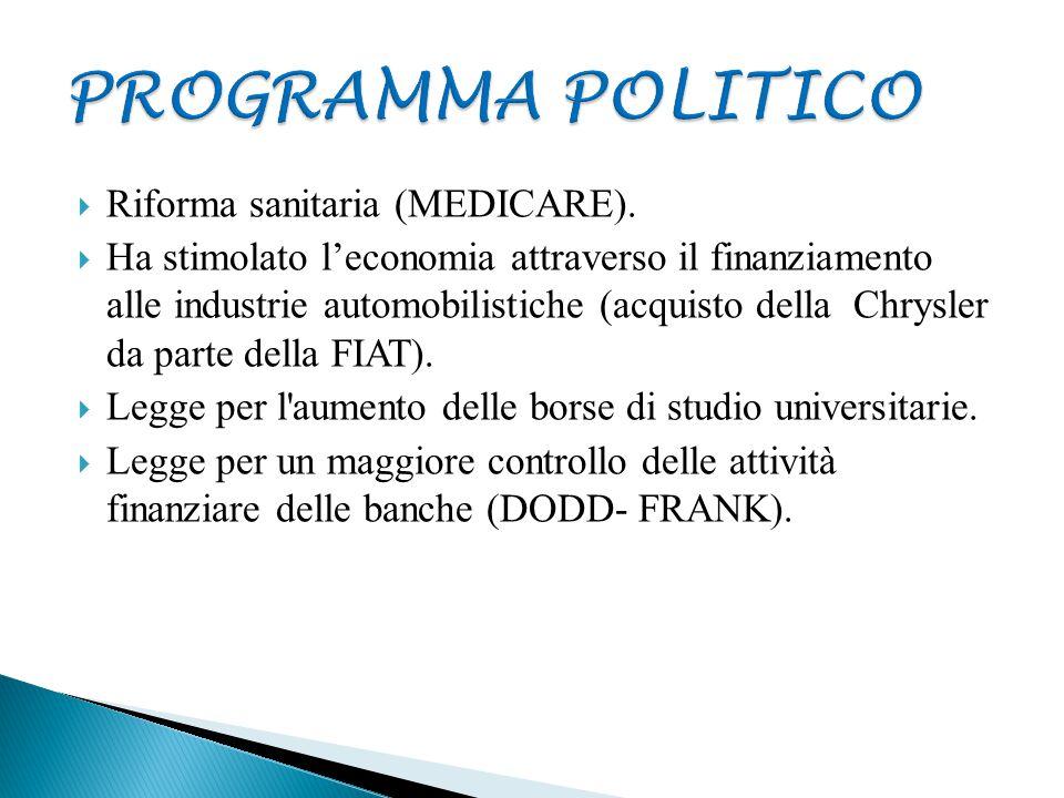 PROGRAMMA POLITICO Riforma sanitaria (MEDICARE).
