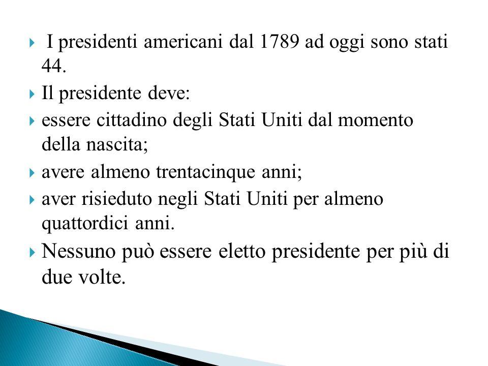 Nessuno può essere eletto presidente per più di due volte.