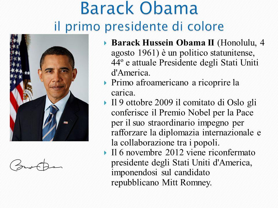 Barack Obama il primo presidente di colore