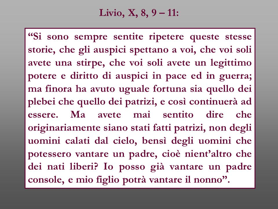 Livio, X, 8, 9 – 11: