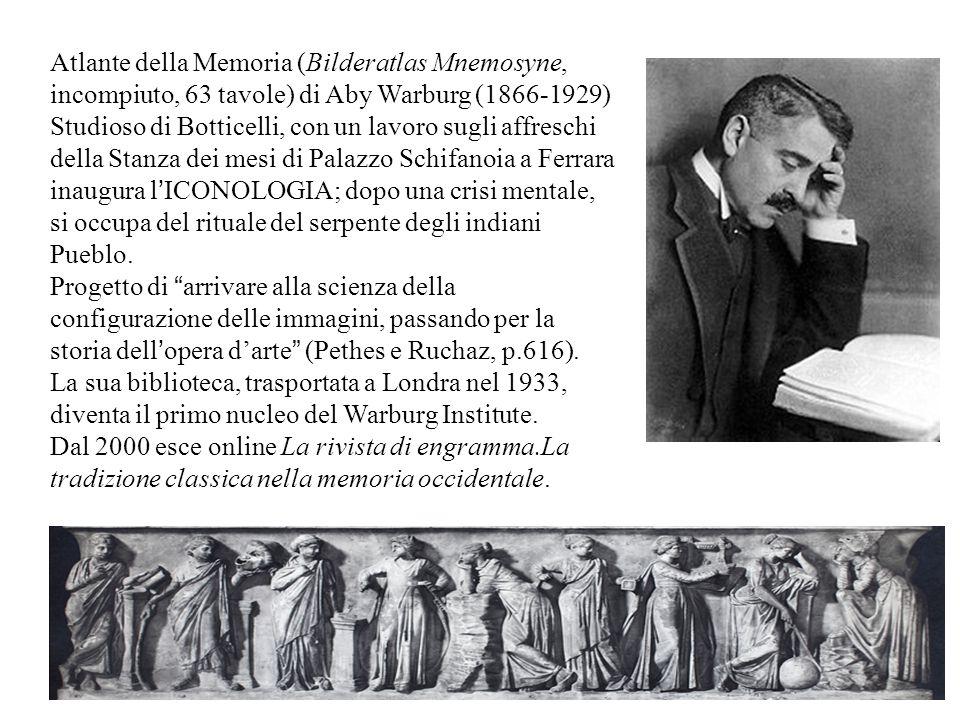 Atlante della Memoria (Bilderatlas Mnemosyne, incompiuto, 63 tavole) di Aby Warburg (1866-1929)