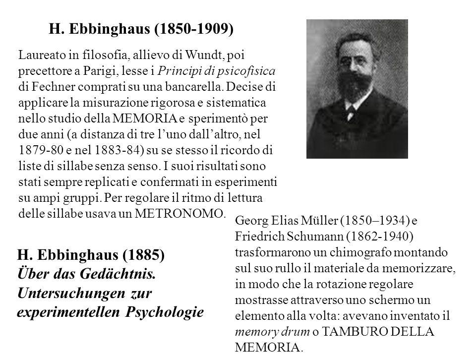 Über das Gedächtnis. Untersuchungen zur experimentellen Psychologie