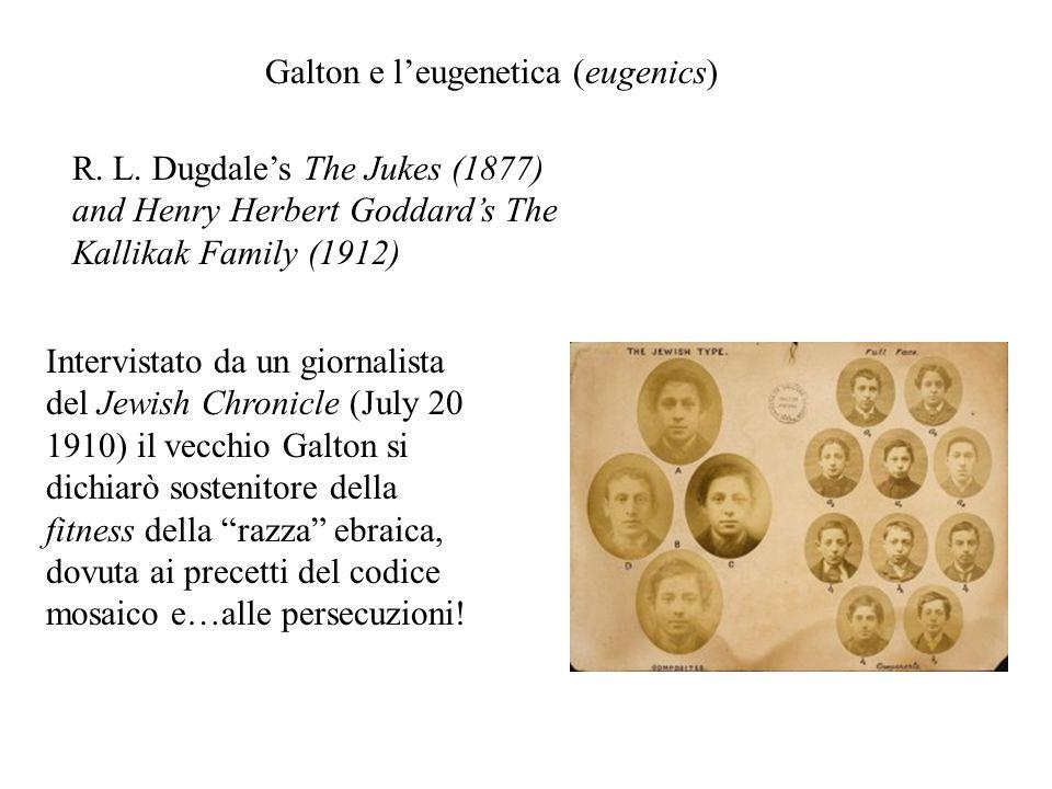 Galton e l'eugenetica (eugenics)